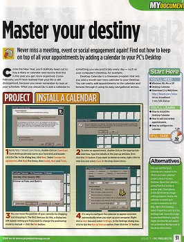 pc projects magazine full page spread